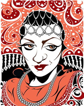 Fine Art Print Olga Borodina, Russian mezzo-soprano, colour version of b/w file image, 2005 by Neale Osborne