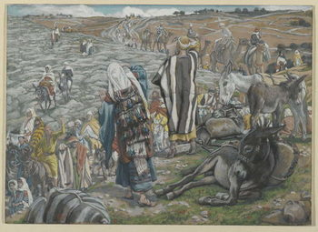 Fine Art Print On Return from Jerusalem it is noticed that Jesus is Lost, illustration from 'The Life of Our Lord Jesus Christ'