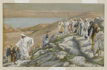 Fine Art Print Ordaining of the Twelve Apostles, illustration from 'The Life of Our Lord Jesus Christ'