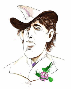 Fine Art Print Oscar Wilde - caricature of Irish writer
