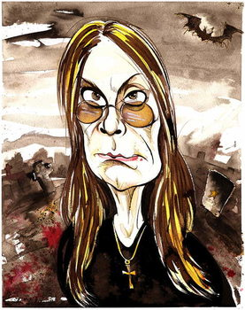 Fine Art Print Ozzy Osbourne - colour caricature