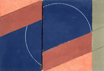 Fine Art Print Painting - Interrupted Circle, 2000