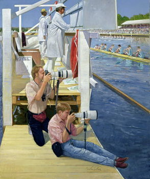 Fine Art Print Passing the Scoreboard, Henley