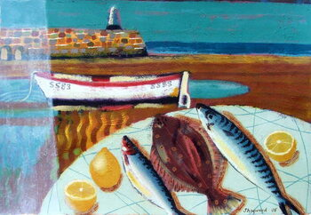 Fine Art Print Plaice and Lemon