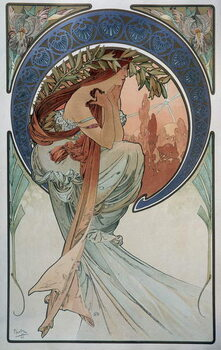 Fine Art Print Poetry - by Mucha, 1898.
