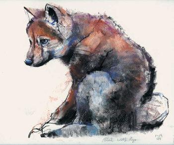 Fine Art Print Polish Wolf Pup, 2001