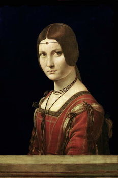 Obraz na plátně Portrait of a Lady from the Court of Milan, c.1490-95