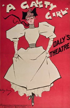 Fine Art Print Poster advertising 'A Gaiety Girl' at the Daly's Theatre, Great Britain, 1890s