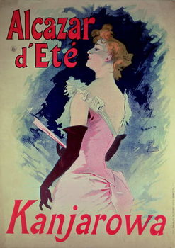 "Fine Art Print  Poster advertising ""Alcazar d'Ete"" starring Kanjarowa"