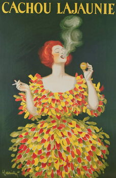 Fine Art Print Poster advertising cachou Lajaunie