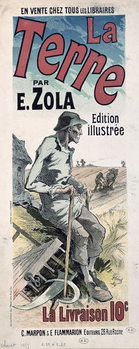 Fine Art Print  Poster advertising 'La Terre' by Emile Zola, 1889