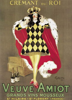 Fine Art Print Poster advertising 'Veuve Amiot' sparkling wine
