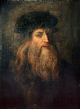 Fine Art Print Presumed Self-portrait of Leonardo da Vinci, 1490-1500
