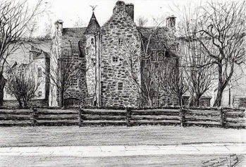 Fine Art Print  Queen Mary's house Jedburgh, 2006,