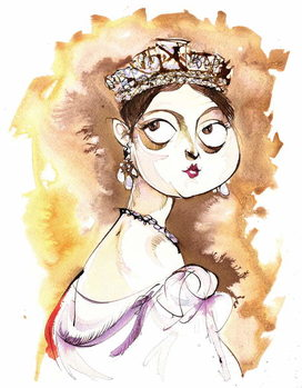 Fine Art Print Queen Victoria of Great Britain English monarch (1819-1901); caricature