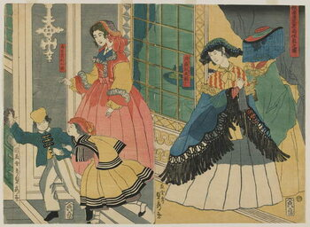 Fine Art Print Residence of a Foreign Merchants from Overseas