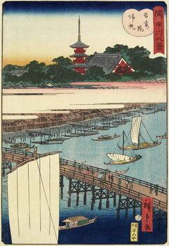 Fine Art Print Returning Sails at Azuma Bridge, November 1861
