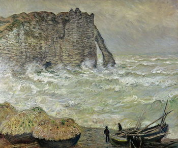 Fine Art Print Rough Sea at Etretat, 1883