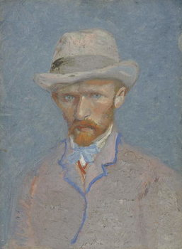 Fine Art Print  Self-Portrait with gray felt hat, 1887