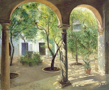 Fine Art Print  Shaded Courtyard, Vianna Palace, Cordoba