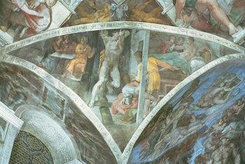 Fine Art Print Sistine Chapel Ceiling: Haman (spandrel)