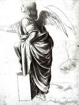 Fine Art Print  Study of an Angel (chalk on paper)