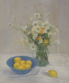 Fine Art Print Summer Daisies and Lemons, 1990
