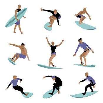 Fine Art Print Surfers