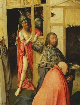 Fine Art Print The Adoration of the Magi, detail of the Antichrist, 1510 (oil on panel)