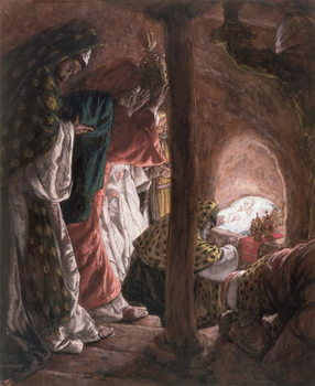 Fine Art Print  The Adoration of the Wise Men, illustration for 'The Life of Christ', c.1886-94