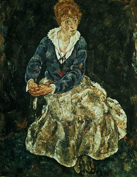 Fine Art Print The Artist's wife seated, c.1912