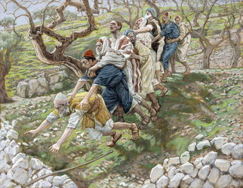 Fine Art Print  The Blind Leading the Blind, illustration for 'The Life of Christ', c.1886-94