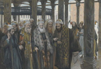 Fine Art Print The Chief Priests Take Counsel Together, illustration from 'The Life of Our Lord Jesus Christ', 1886-94