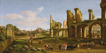 Fine Art Print  The Colosseum and the Roman Forum, 1711