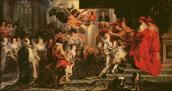 Fine Art Print The Coronation of Marie de Medici (1573-1642) at St. Denis, 13th May 1610, 1621-25