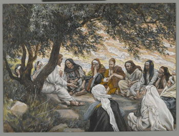 Fine Art Print The Exhortation to the Apostles, illustration from 'The Life of Our Lord Jesus Christ'