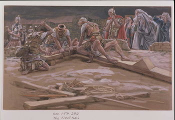 Fine Art Print The First Nail, illustration for 'The Life of Christ', c.1886-96