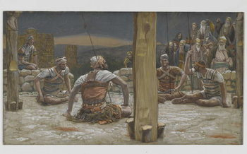 Fine Art Print The Four Guards Sat Down and Watched Him, illustration from 'The Life of Our Lord Jesus Christ', 1886-94