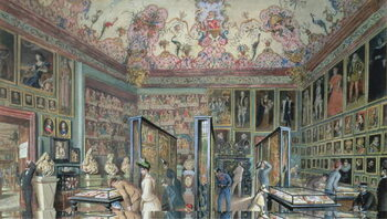 Fine Art Print The Genealogy Room of the Ambraser Gallery in the Lower Belvedere, 1888