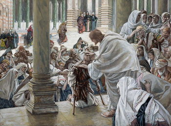 Fine Art Print The Healing of the Lame in the Temple, illustration for 'The Life of Christ', c.1886-94