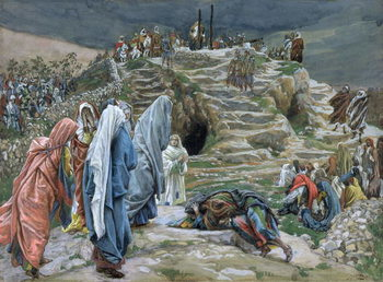 Fine Art Print The Holy Women Stand Far Off Beholding What is Done, illustration for 'The Life of Christ', c.1886-94