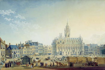 Fine Art Print The Main Square, Middelburg, 1812