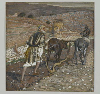 Fine Art Print  The Man at the Plough, illustration from 'The Life of Our Lord Jesus Christ'
