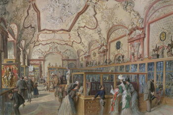 Fine Art Print The Marble Hall of the Ambraser Gallery in the Lower Belvedere, Vienna, 1876