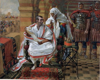Fine Art Print  The Message of Pilate's Wife, illustration for 'The Life of Christ', c.1886-94