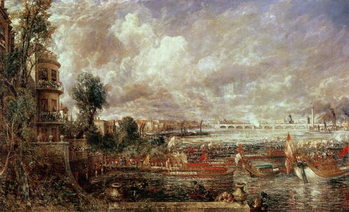 Fine Art Print The Opening of Waterloo Bridge, Whitehall Stairs, 18th June 1817