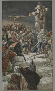 Fine Art Print The Pardon of the Good Thief, illustration from 'The Life of Our Lord Jesus Christ', 1886-94