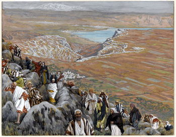 Fine Art Print  The People Seek Christ to Make him King, illustration for 'The Life of Christ', c.1886-94