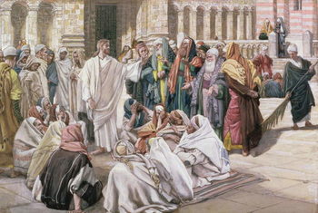 Fine Art Print The Pharisees Question Jesus, illustration for 'The Life of Christ', c.1886-96