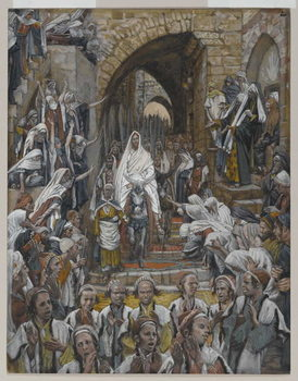 Fine Art Print The Procession in the Streets of Jerusalem, illustration from 'The Life of Our Lord Jesus Christ', 1886-94